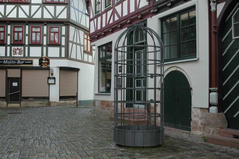 Trillerkäfig Ansicht vom Marktplatz Schmalkalden