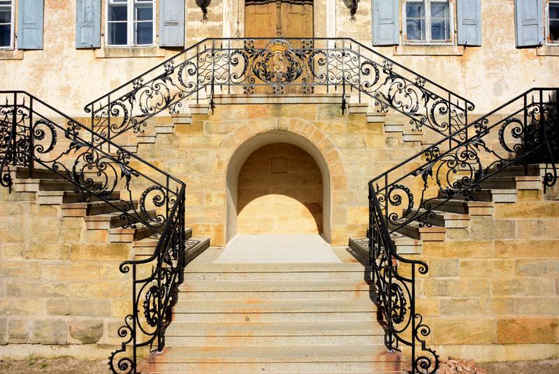 Restaurierung Treppengeländer Schloß Buttenheim