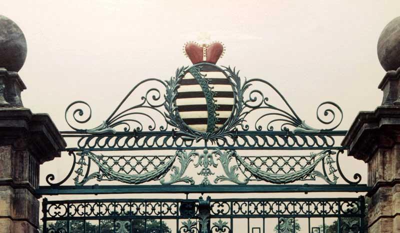 Eingangstor Toranlage Orangerie Gotha