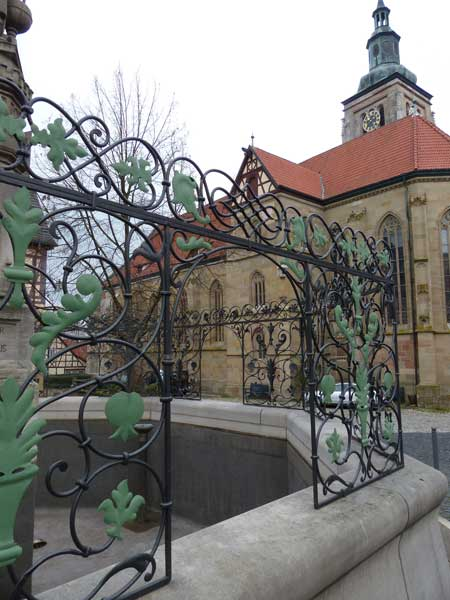 Brunnengitter in Königsberg Detail